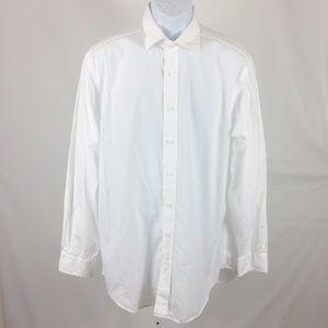 Vineyard Vines Baron Shirt Long Sleeve M White